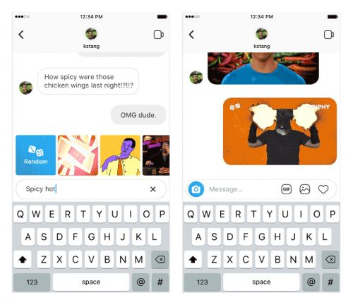 Instagram Brings GIFs To Instagram Direct, Powered By GIPHY