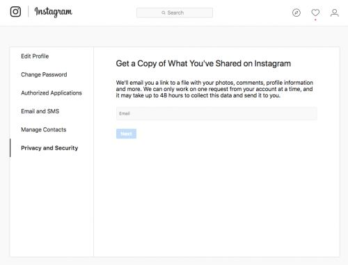 Instagram Now Allows Users To Download Their Content