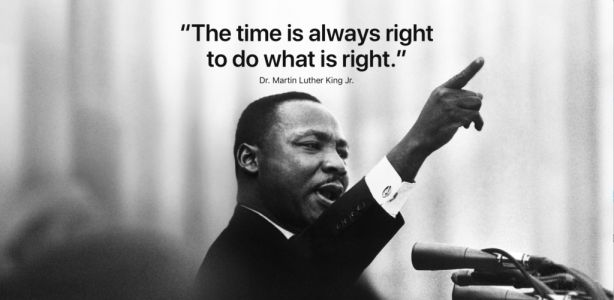 Apple, Tim Cook Honor Martin Luther King Jr. on Holiday