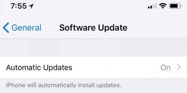 IOS 12 beta suggests support for automatic system updates