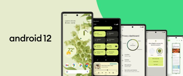 Google ships Android 12 for the Pixel 3 and up