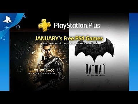 January 2018's Free PS Plus Games Announced