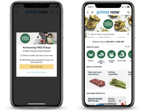 Amazon Launches Grocery Pickup at Select Whole Food Stores Using 'Prime Now' Mobile App