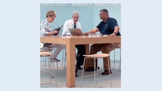 Caption contest: What's Robert Mueller getting help with at a Washington D.C. Apple store?