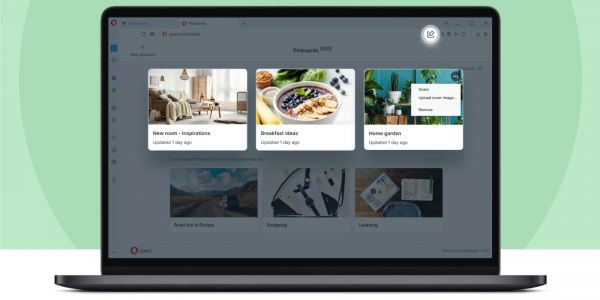 Opera launches R5 browser update for Mac with shareable Pinboards, floating video calls, more