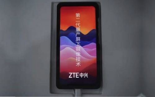 ZTE shows off new under display camera,in-display 3D face scanner