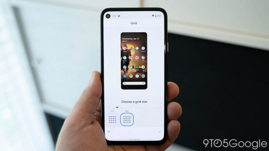 Android 12 DP3: Pixel Launcher adds second 4×4 grid size with smaller app icons