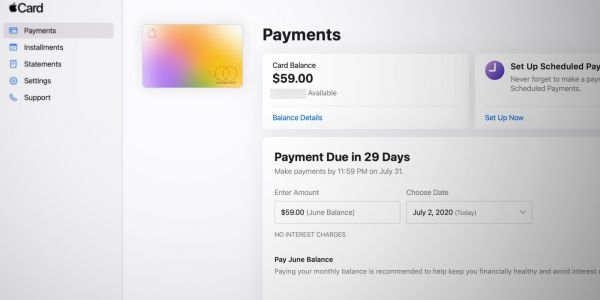 Apple launches web portal for Apple Card, pay your bill and view statements online
