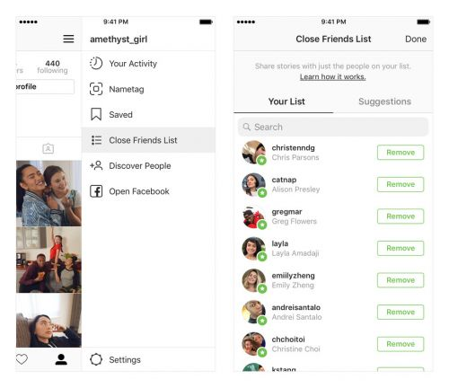 Instagram Launches 'Close Friends' List for Sharing Stories
