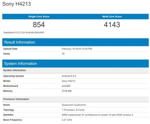 Three Sony Android Phones Benchmarked With Snapdragon 660