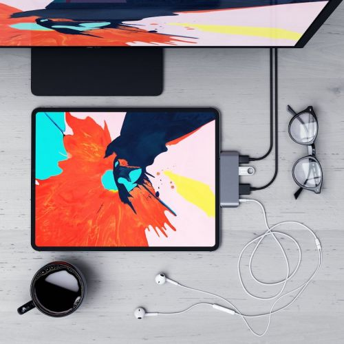 Satechi's USB-C Hub for 2018 iPad Pro Now Available: 4K HDMI, Headphone Jack, USB-C With Power Delivery, and USB-A
