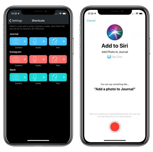 Day One 3.1 for iOS introduces Siri Shortcuts