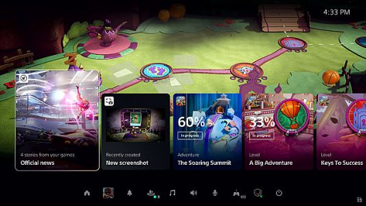 PS5 UI Reveal Gives Us First Look at Activities, Cards, and Game Help