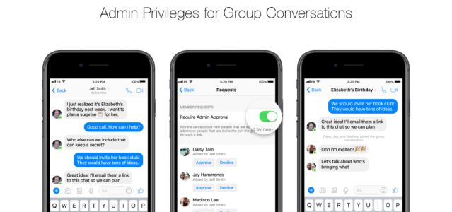 Facebook Messenger Adds Admin Controls To Group Chats & More