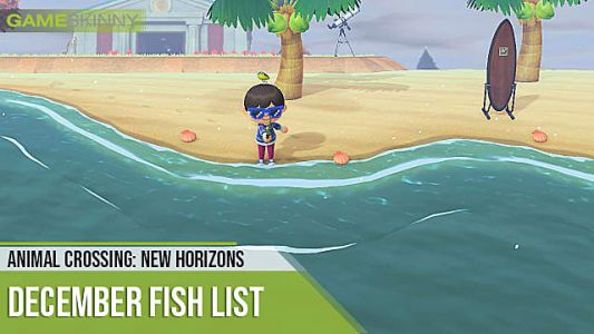 Animal Crossing: New Horizons Fish, Sea Creature List For December 2020