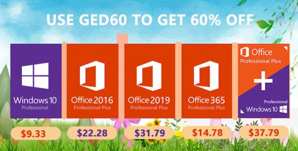 Spring Promotion: Windows 10 pro key $9.33, Office 2019 Pro $31.79 from MMORC