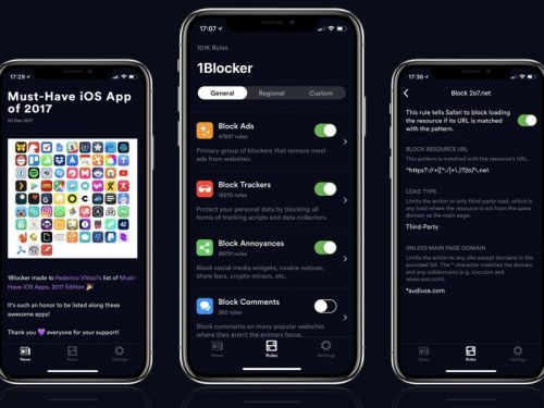 Improve your mobile browsing experience with 1Blocker X for iOS