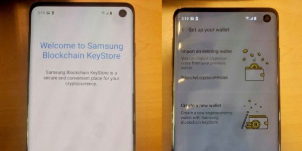 Galaxy S10 leak shows off punch-hole display, Samsung's new cryptocurrency wallet