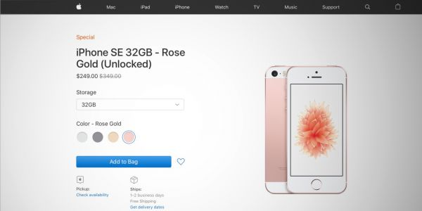 Buy iPhone SE for $249 at Apple Clearance whilst stocks last