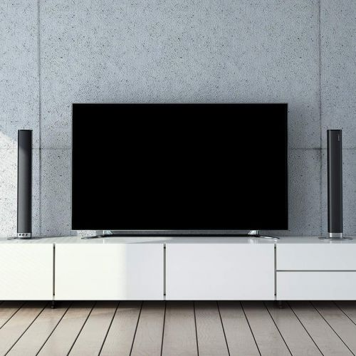 Aukey's $85 Bluetooth Soundbar splits into left and right tower speakers