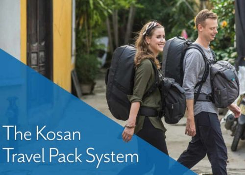 Kosan Travel Pack, 5-in-1 Detachable Carrying System