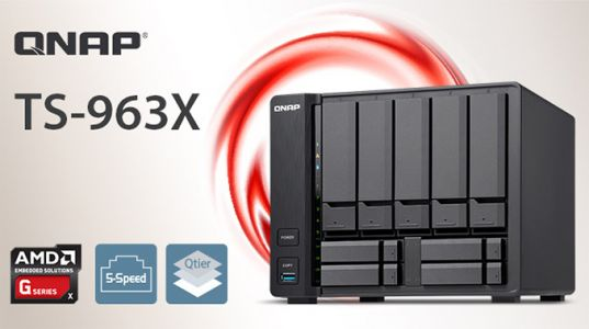QNAP Launches TS-963X NAS: x86 NAS With 9 Bays & 10 GbE/Multi-Gig Ethernet