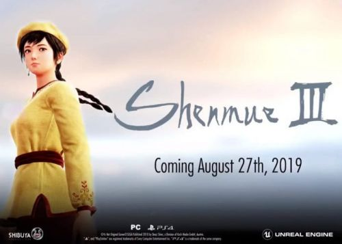 Shenmue 3 Launch Date Set For August 27th 2019 Confirm Deep Silver