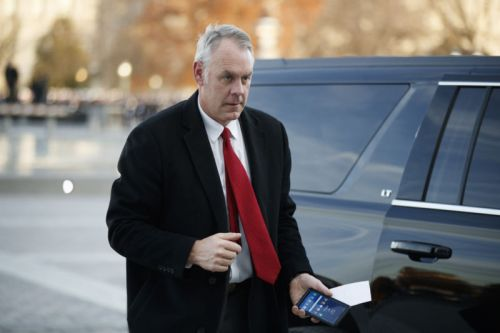 Trump will replace Interior Department Secretary next week
