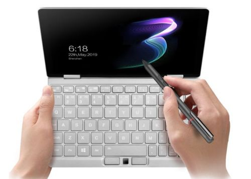 One Mix 3 Yoga mini laptop tablet mode and digital pen demonstrated