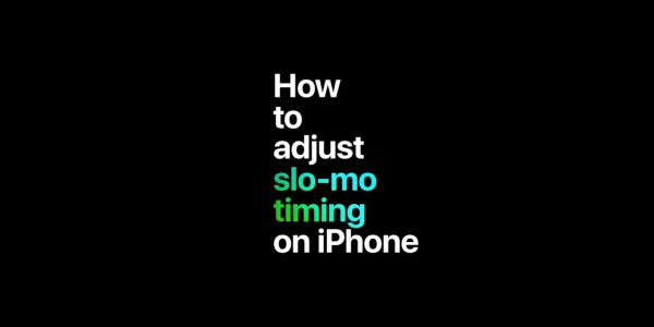 Apple shares new video tips on shooting B&W photos, taking overheads, and editing slow-mo timing with iPhone