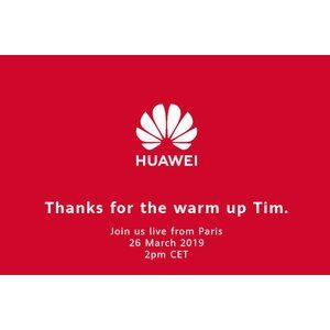 """Huawei thanks Apple and CEO Cook for warming up the crowd before tomorrow's """"main event"""""""