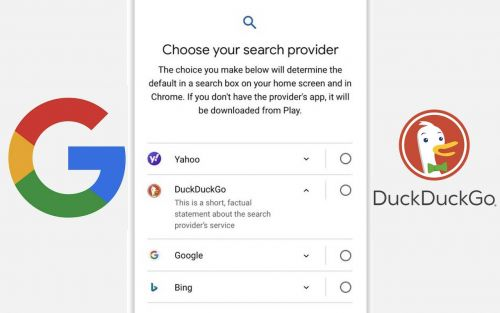 Android Choice Screen winners named in EU, DuckDuckGo removed