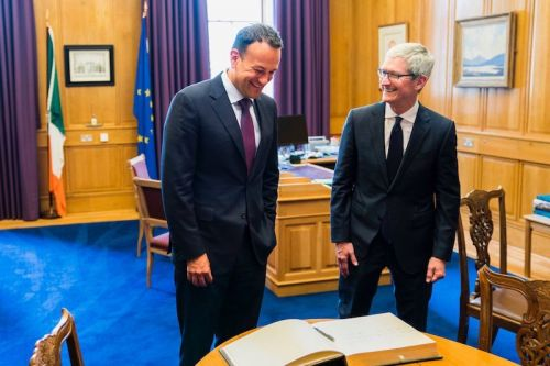 Tim Cook Visits Ireland, Calls for Global Corporate Tax Reform
