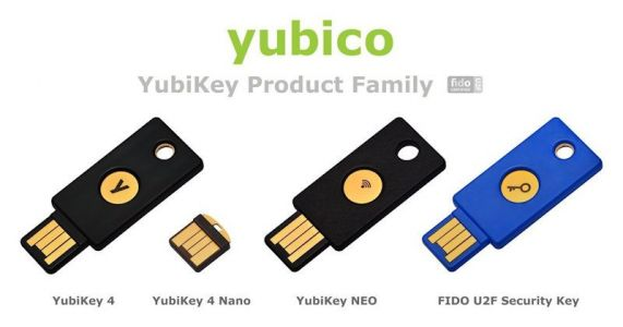 Yubico YubiKey Security Keys For Two Factor Authentication