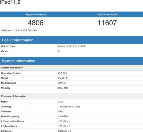 A12 Bionic in New iPad Paired With 3GB RAM, Clocks in at Same Speed as Latest iPhones