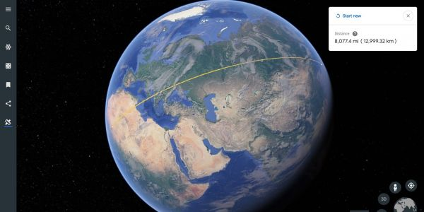 You can now measure distances and areas in Google Earth for Chrome and Android