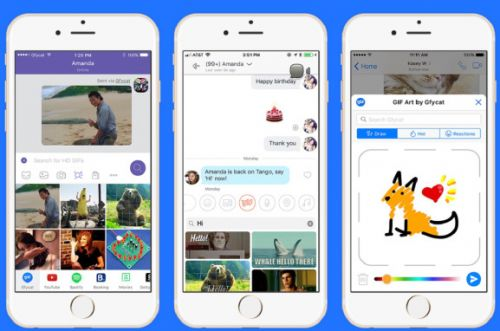 Gfycat integrates user-generated GIFs on Tango, Messenger, and Viber