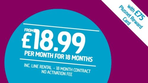£75 pre-paid Mastercard gives Plusnet some of the best cheap broadband deals in the UK