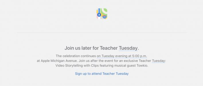 Apple hosting Teacher Tuesday event at Michigan Avenue store in Chicago