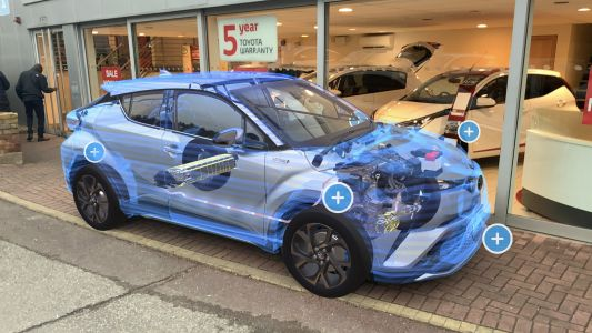 Toyota showrooms use augmented reality to let customers 'see' inside cars