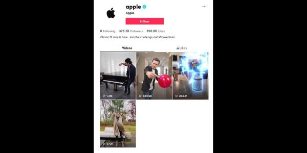 Apple is now using TikTok, with influencer videos for iPhone 12 mini