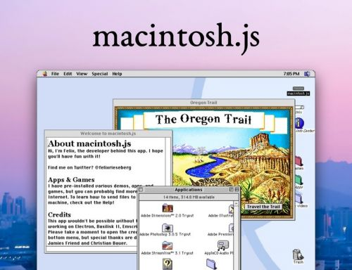 You can download Mac OS 8 and run it on your PC like a monster