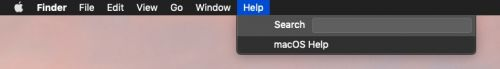How to Use the macOS Help Menu