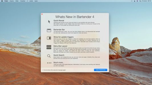 Bartender 4 menu bar utility updated with macOS Big Sur and M1 Mac support