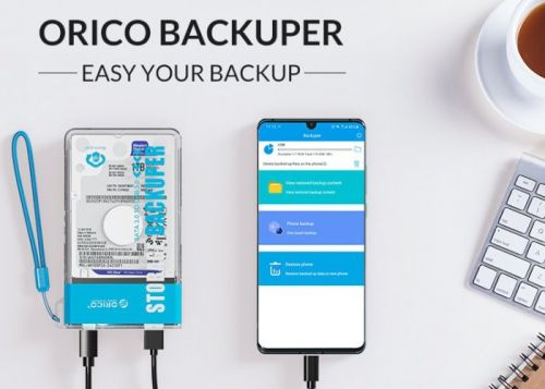 Easily backup your phone or tablet offline with the ORICO Backuper system