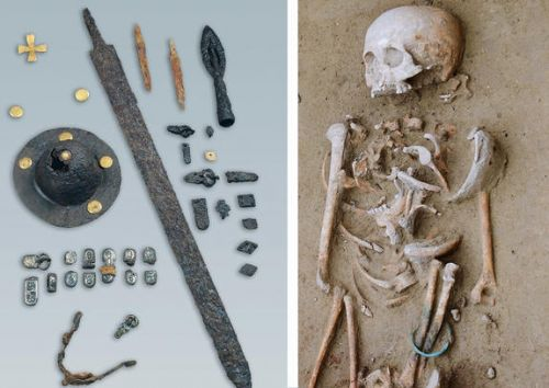 Using Medieval DNA to track the barbarian spread into Italy