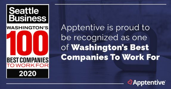 Apptentive Named on Seattle Business Magazine's 2020 List of the Best Companies to Work For