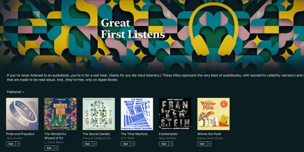 Apple Books releases six free audiobooks read by celebrity narrators