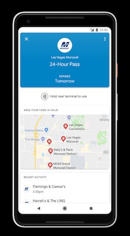 Google Pay Now Offers Mobile Tickets For Las Vegas Monorail