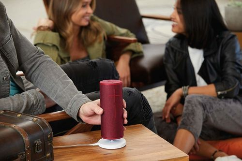 Which speakers work with the Ultimate Ears Power Up charger?